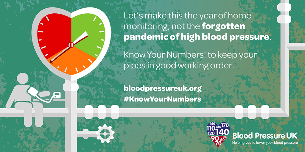 Let's make this the year of home monitoring, not the forgotten pandemic of high blood pressure. Know Your Numbers! to keep your pipes in working order.